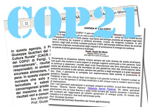 L'ACCORDO di COP21 a PARIGI